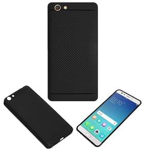 Acm Dotted Soft Silicon Back Case for Oppo F3 Plus Mobile Premium Cover Black
