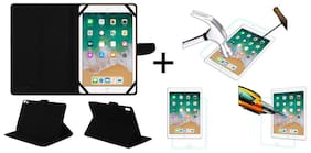 Acm Executive Case & Tempered Glass Combo for Apple Ipad 9.7 2018 Flip Cover Screen Guard Black