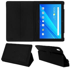 Acm Executive Leather Flip Flap Case for Lenovo Tab 4 10 X304 Tablet Front & Back Cover Black