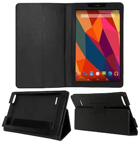 Acm Executive Case for Micromax Canvas Tab P681 Tablet Front & Back Flip Cover Stand Black