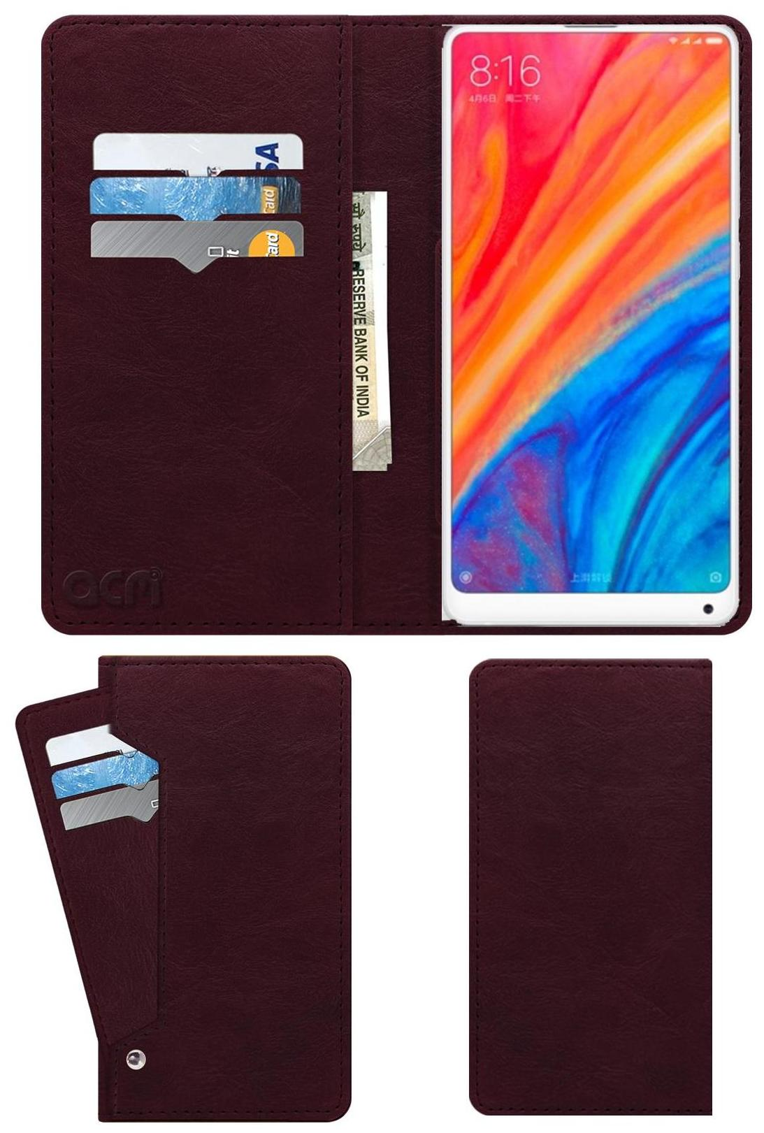ACM Flip Cover For Xiaomi Mi Mix 2s  Maroon  by Accessories Masters
