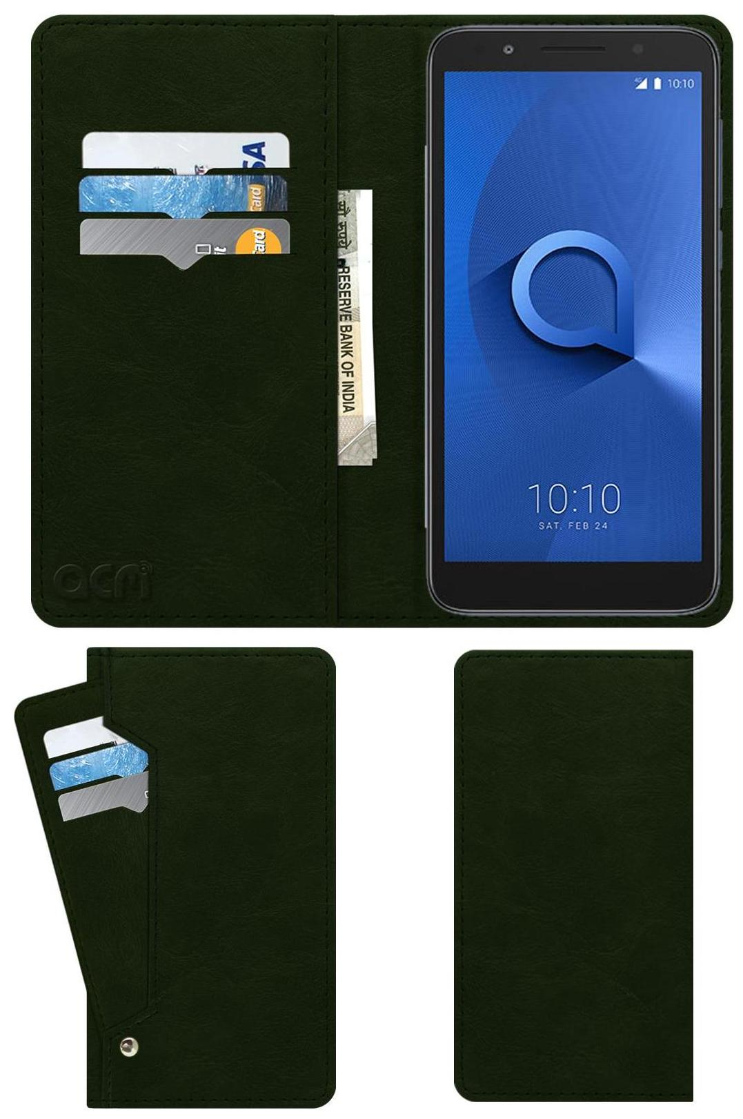 ACM Flip Cover For Alcatel 1x  Green  by Accessories Masters