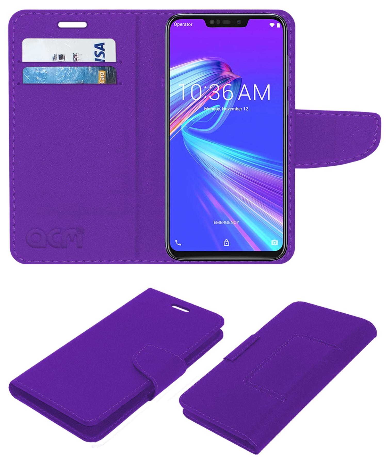 ACM Flip Cover For Asus Zenfone Max M2  Purple  by Accessories Masters