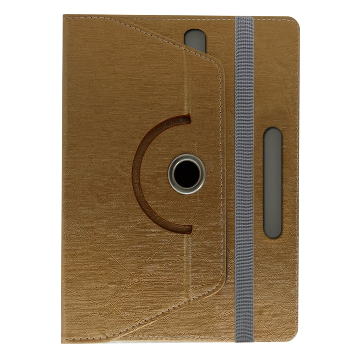 ACM Flip Cover For Apple iPad Air  Golden  by Accessories Masters