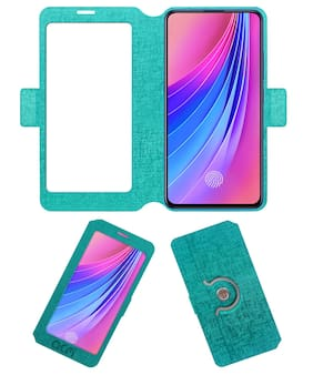 ACM Flip Cover For Vivo V15 Pro (Turquoise)