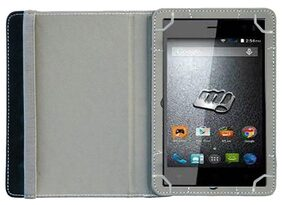 Acm Flip Cover For Micromax Canvas Tab P470 Tab (White)