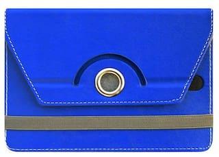 Acm Flip Cover For Samsung Tab 4 T231 Tab (Dark Blue)