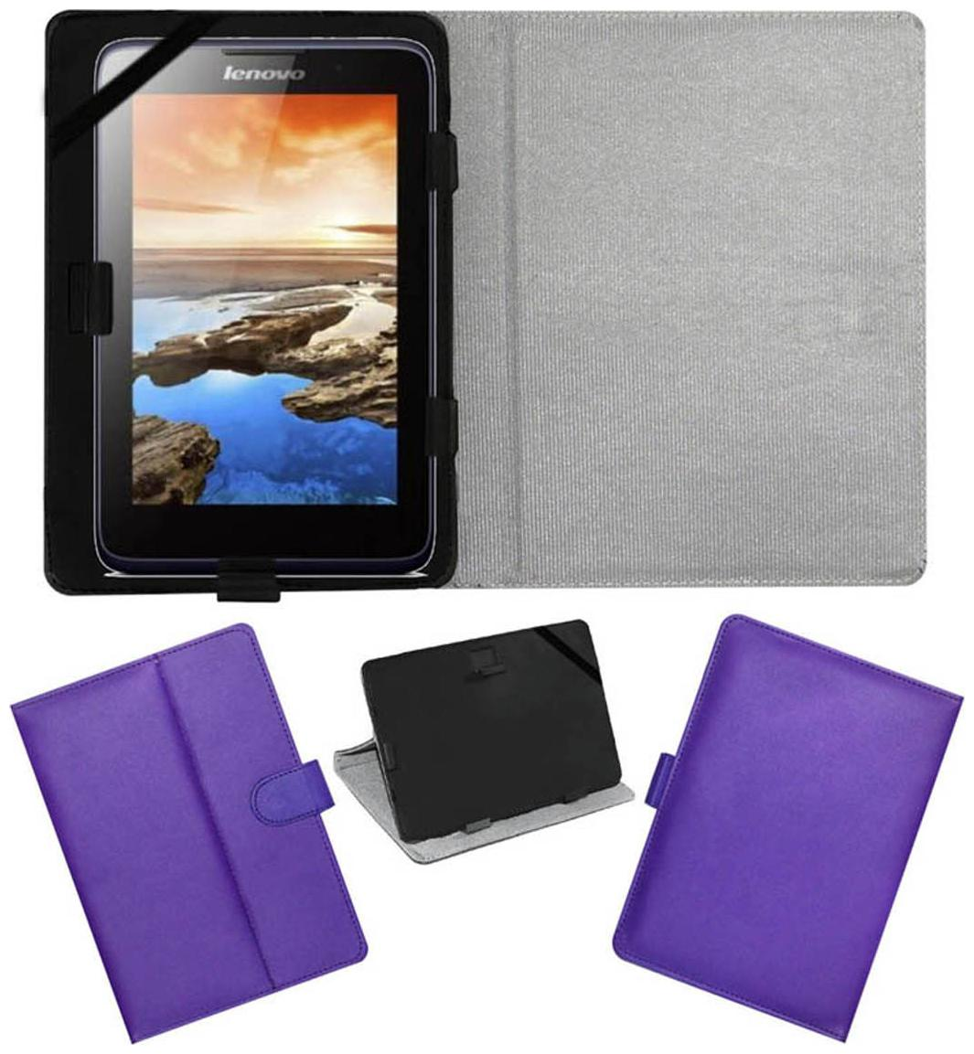 best service ee3fa ef361 ACM Flip Cover For Lenovo A7-30 2g A3300-Gv (Purple)