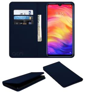 ACM Flip Cover For Redmi Note 7 Pro (Blue)