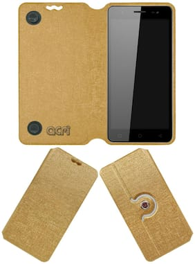 ACM Flip Cover For Micromax Infinity N12 (Golden)