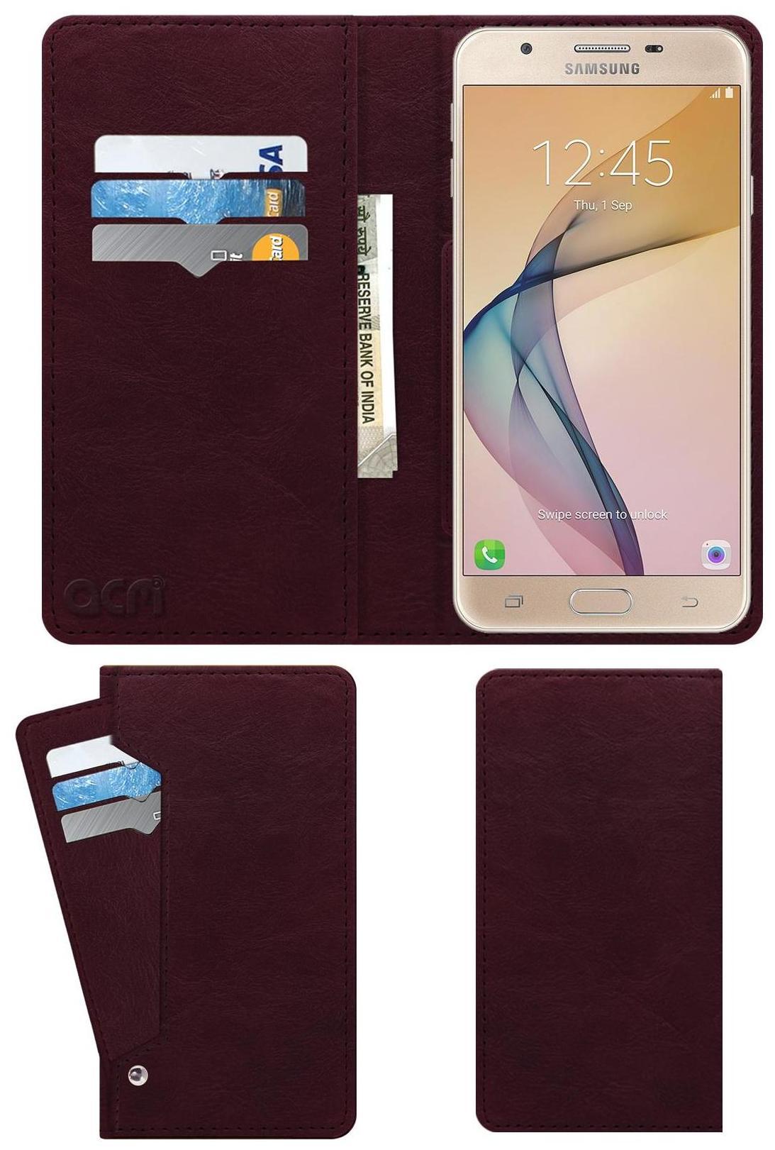 ACM Flip Cover For Samsung Galaxy J7 Prime  Maroon