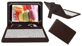 ACM Flip Cover For Lava Ivory M4 (Brown)