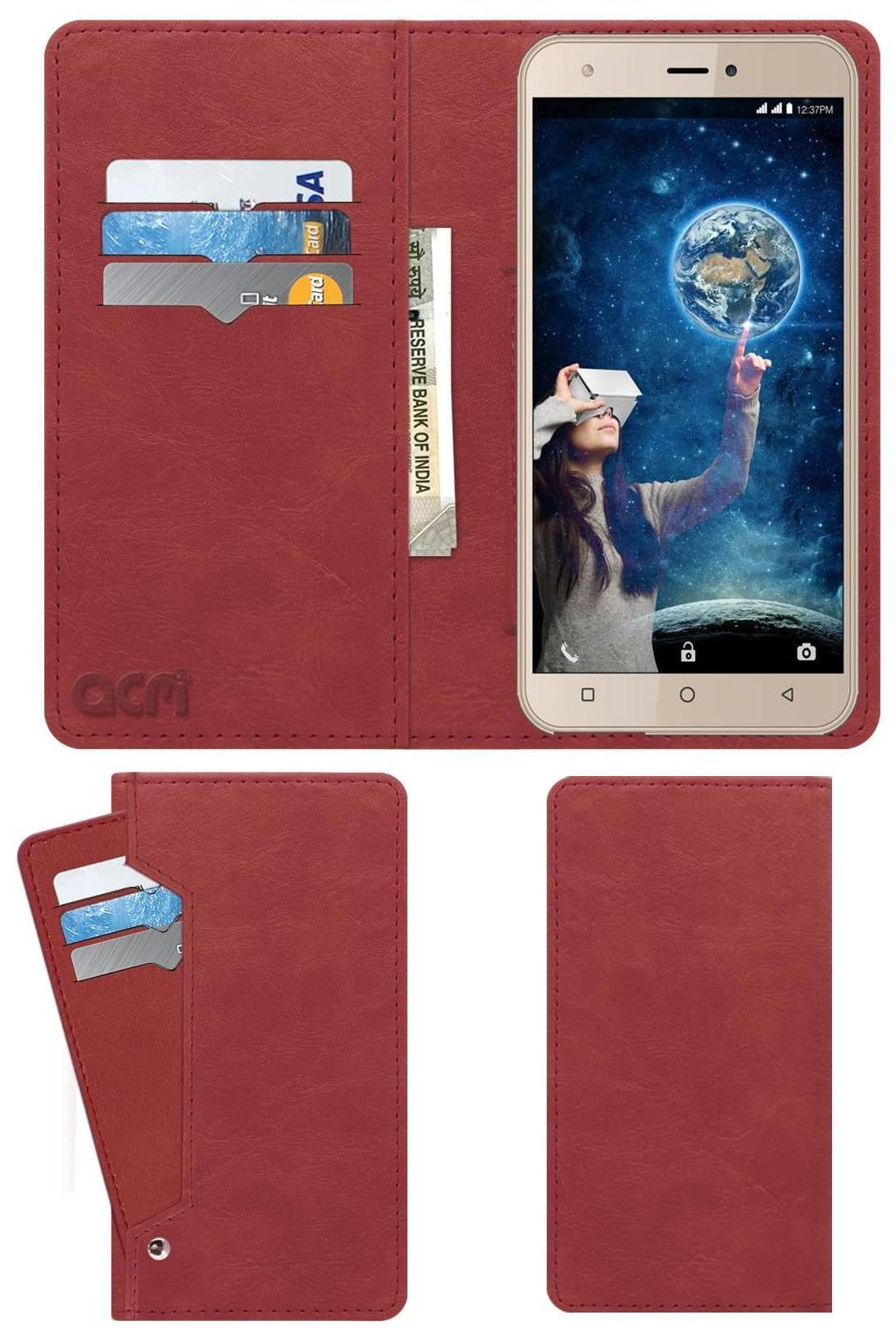 ACM Flip Cover For Intex Aqua 5.5 Vr Plus  Peach  by Accessories Masters