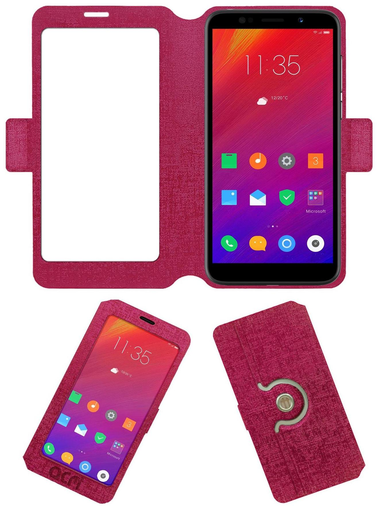 ACM Flip Cover For Lenovo A5  Pink  by Accessories Masters