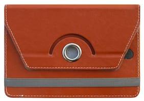 Acm Flip Cover For Swipe Mtv Slate 20.32 cm (8 inch) Tablet (Brown)