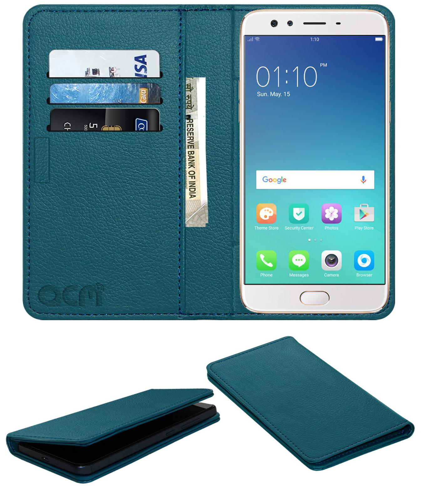 ACM Flip Cover For Oppo F3 Plus  Turquoise  by Accessories Masters