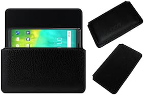 Acm Horizontal Case for Blackberry Evolve Mobile Leather Cover Pouch Black