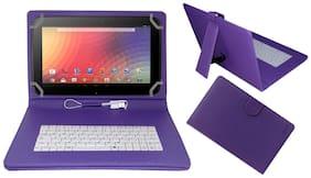 Acm Keyboard Case For Samsung Google Nexus 10  Purple  With Free OTG Cabel