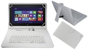 Acm Keyboard Case For Asus Vivo Tab Tf600  White  With Free OTG Cabel