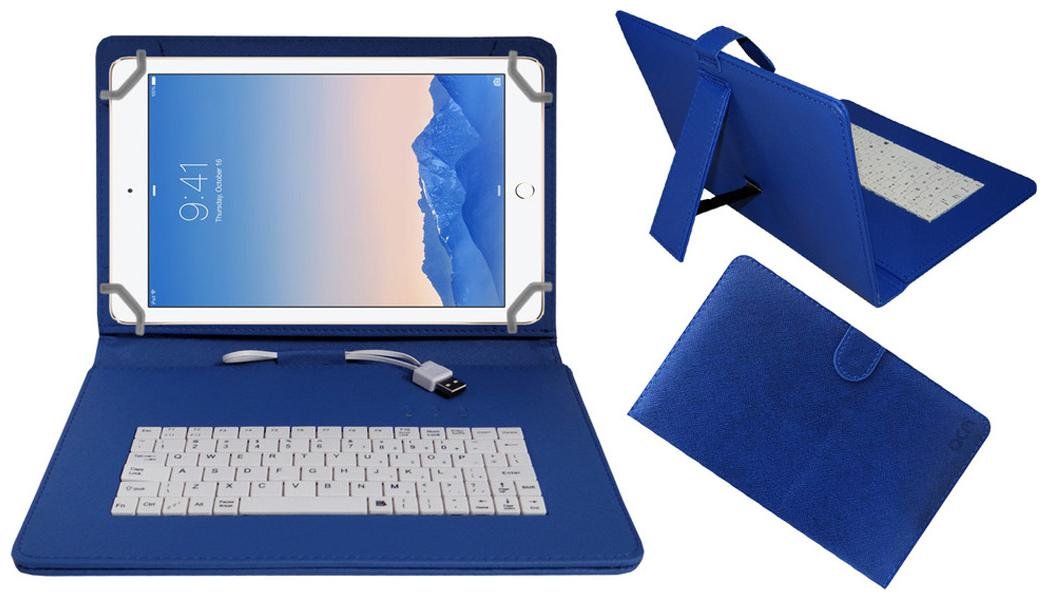 Acm Keyboard Case For Apple Ipad Air 2  Blue  With Free OTG Cabel