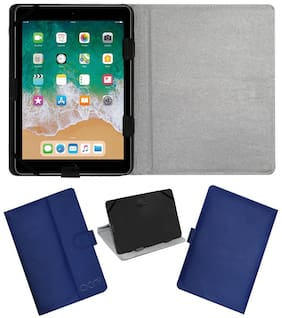 Acm Leather Flip Flap Case for Apple Ipad 9.7 6th Gen Tablet Cover Stand Blue