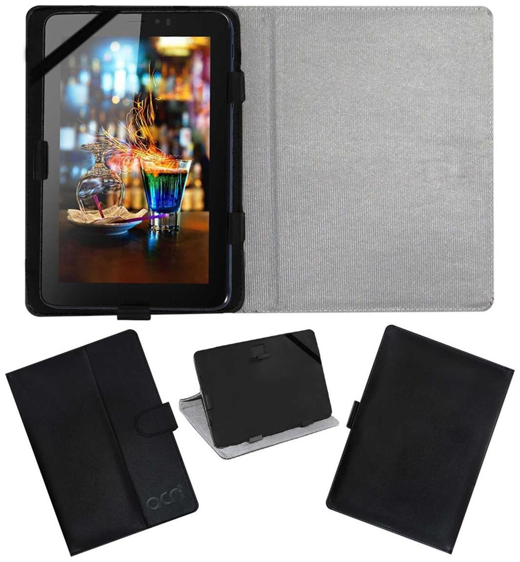 Acm Leather Flip Flap Case For Micromax Canvas Tab P701 Tablet Cover Black