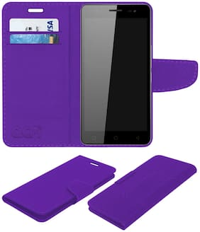 ACM Artificial Leather Flip Cover For Universal ( Purple )