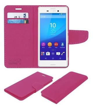 new concept ff463 7924a Buy Acm Mobile Leather Flip Flap Wallet Case for Sony Xperia M4 Aqua ...