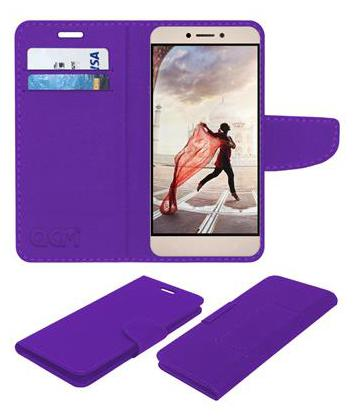 Acm Mobile Leather Flip Flap Wallet Case for Leeco Letv Le1s Mobile Cover Purple by Accessories Masters