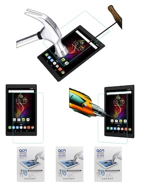 ACM Pack of 3 Tempered Glass Screenguard for Alcatel Pop 4 10.1 Tablet Screen Guard