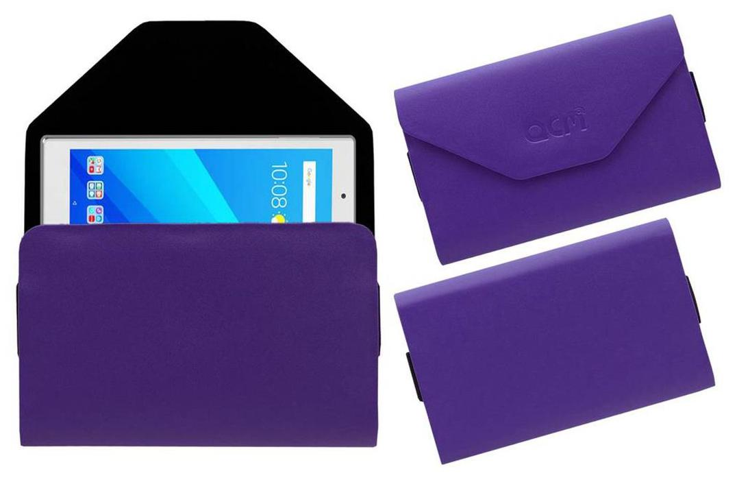 Acm Premium Pouch Case for Lenovo Tab 4 8 Plus Tablet Flip Flap Cover Purple by Accessories Masters