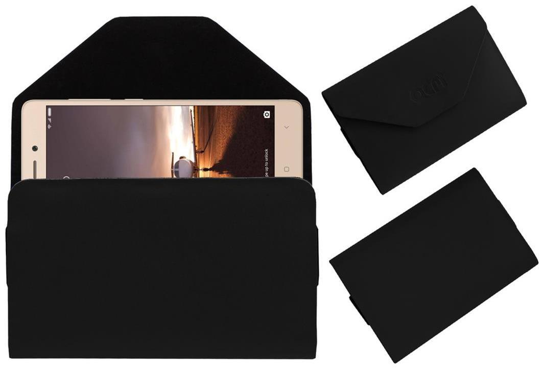 Acm Premium Flip Flap Pouch Case For Xiaomi Redmi 3s Prime Leather Cover Black by Accessories Masters