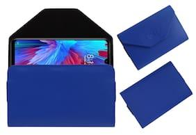 Acm Premium Flip Flap Pouch Case for Redmi Note 7s Mobile Leather Cover Blue