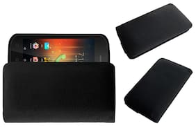 Acm Rich Soft Carry Case for Swipe Elite Star Mobile Handpouch Leather Cover Pouch Black