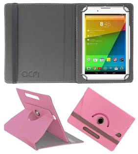 Acm Rotating Leather Flip Case for Unic U1 Tablet Cover Stand Light Pink