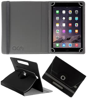 Acm Rotating Leather Flip Case for Apple Ipad Air A1475 Tablet Cover Stand Black