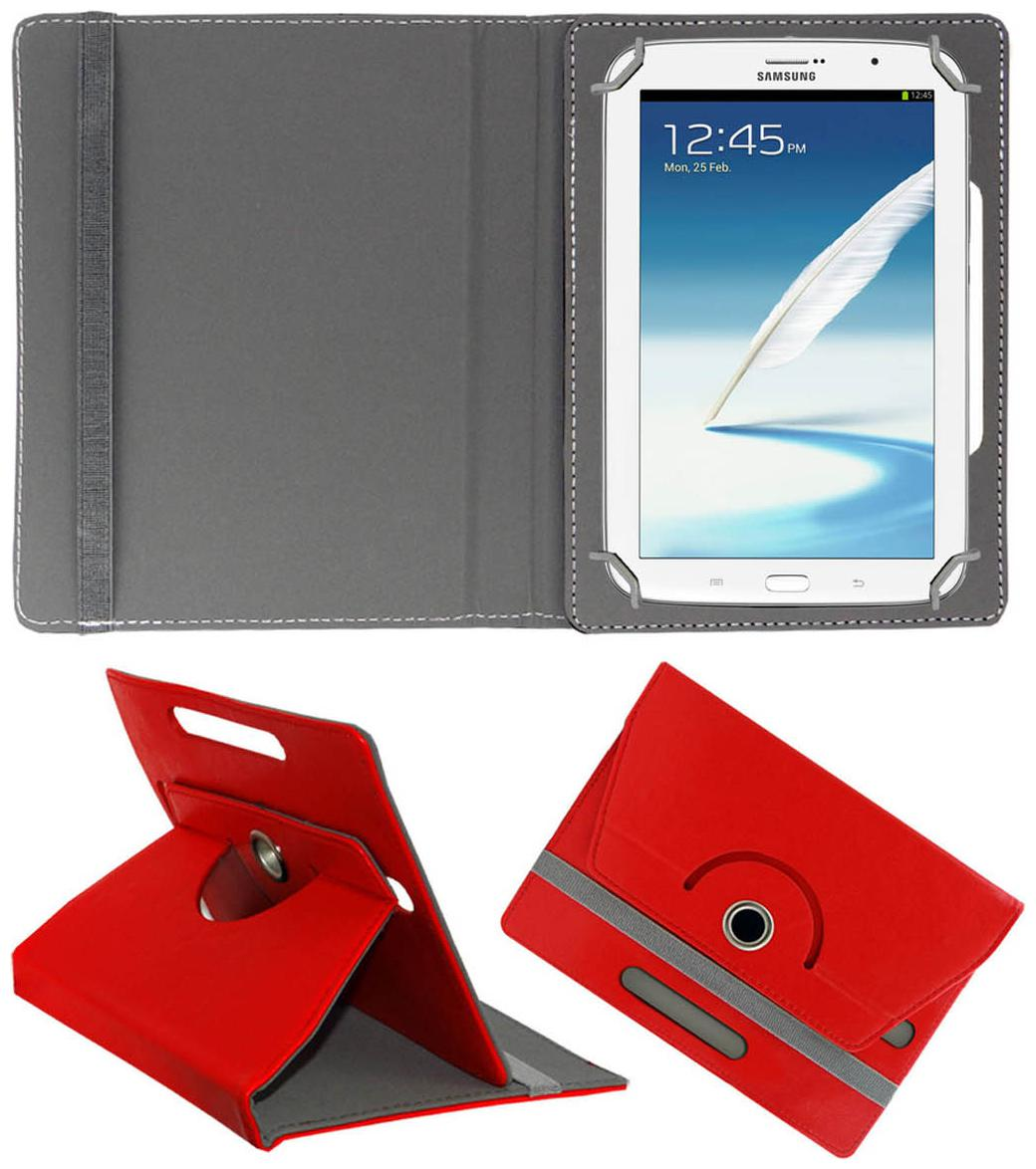 Acm Rotating 360 ° Book Cover For Samsung Galaxy Note 510 N5100  Red  by Accessories Masters