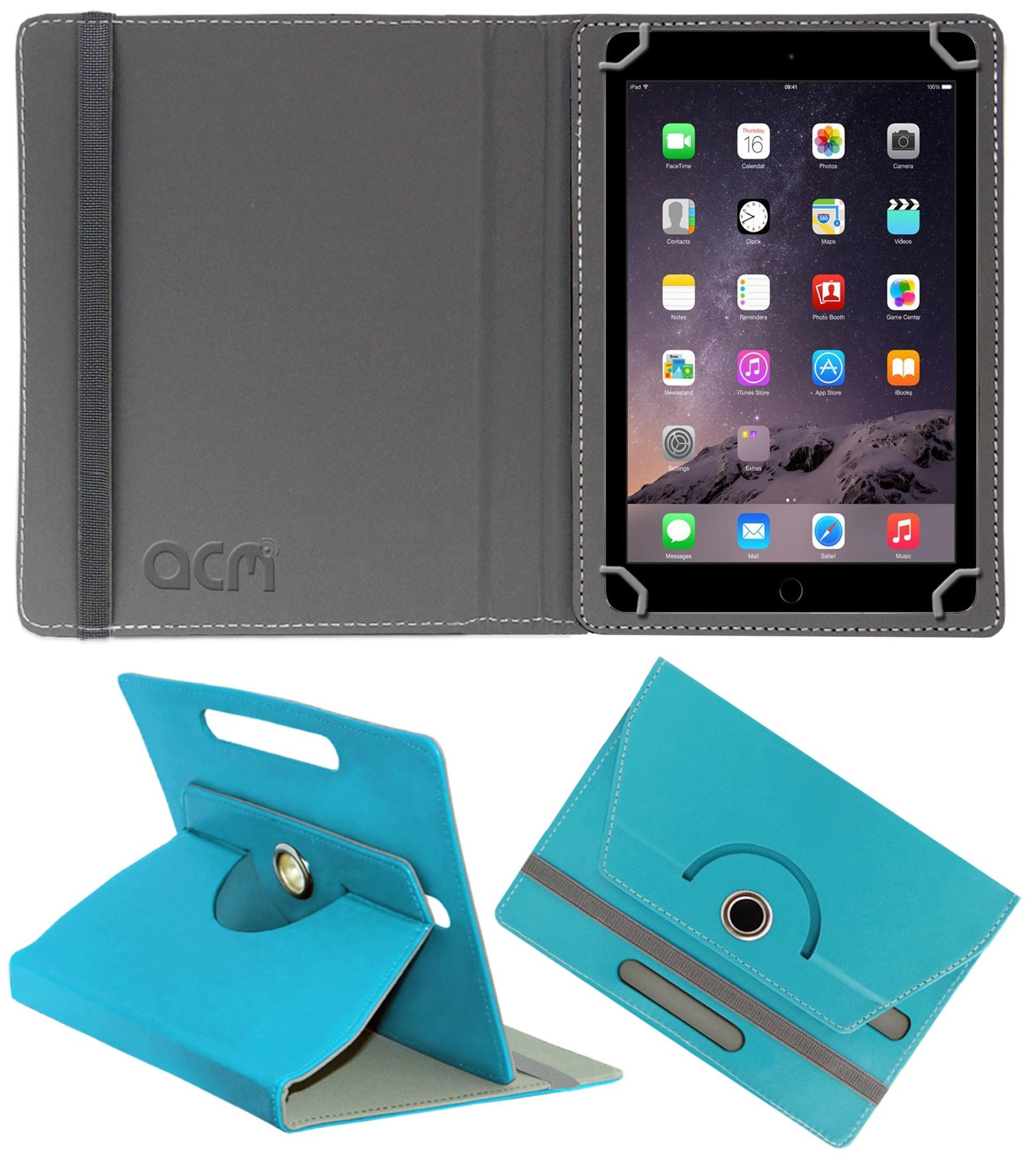 Apple iPad Air Faux Leather Flip Cover By ACM   Blue   by Accessories Masters