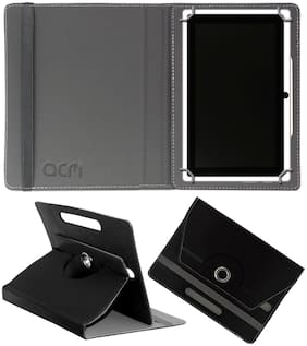 Acm Rotating Leather Flip Case for Honor Pad 5 8 Tablet Cover Stand Black
