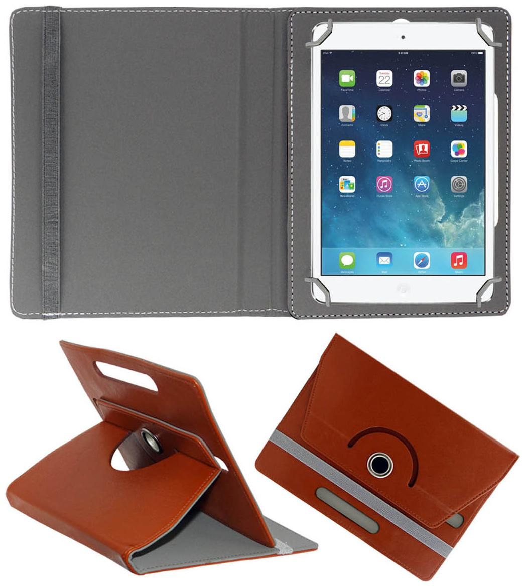 Acm Rotating 360 ° Book Cover For Apple iPad Mini 4  Brown  by Accessories Masters