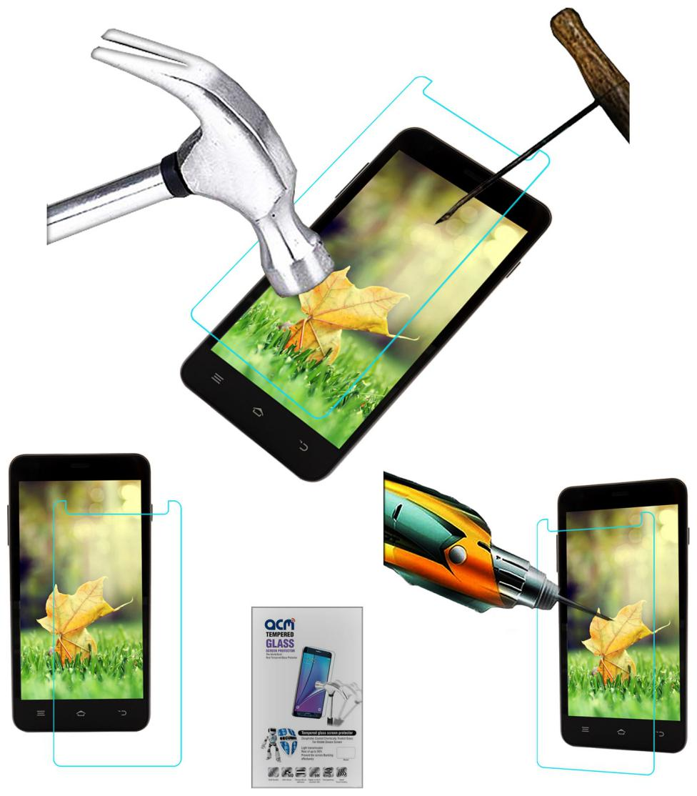 Acm Tempered Glass Screenguard for Lyf Wind 4s Screen Guard Scratch Protector