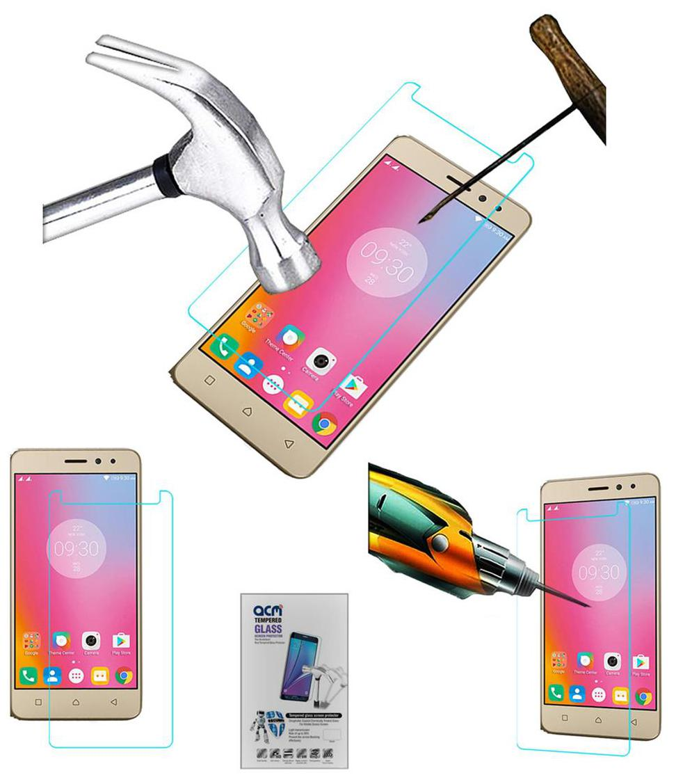 Acm Tempered Glass Screenguard for Lenovo K6 Power Screen Guard Scratch Protector by Accessories Masters
