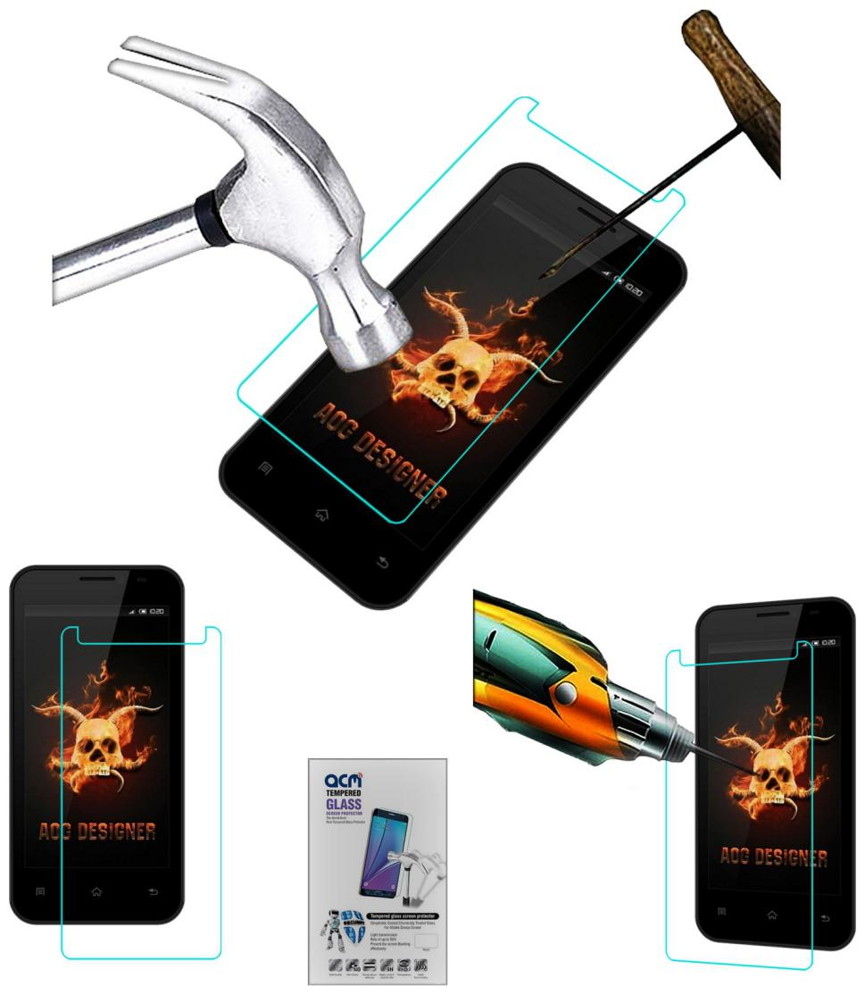 Acm Tempered Glass Screenguard for Intex Cloud Jewel Screen Guard Scratch Protector by Accessories Masters