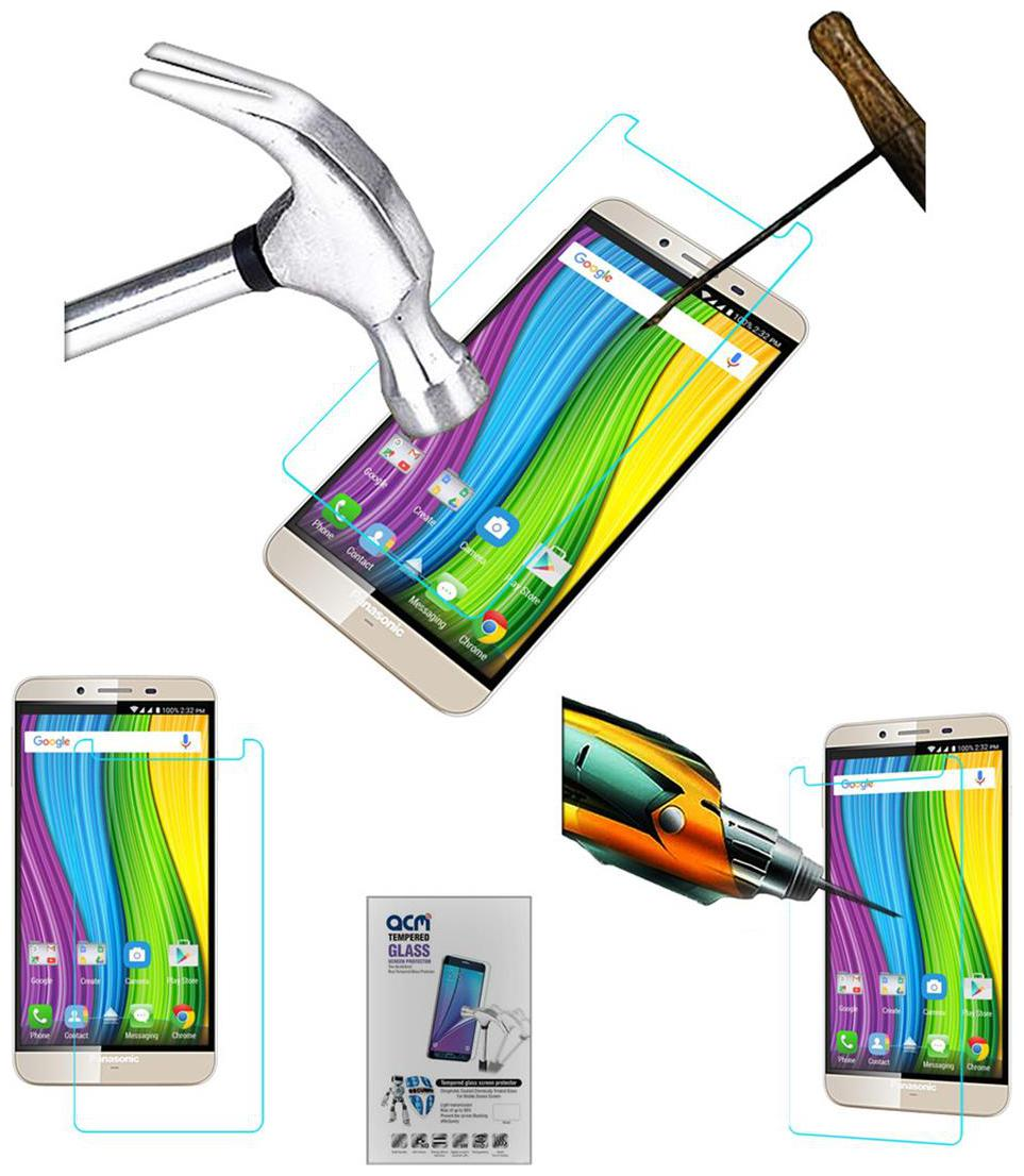 Acm Tempered Glass Screenguard for Panasonic Eluga Note Screen Guard Scratch Protector
