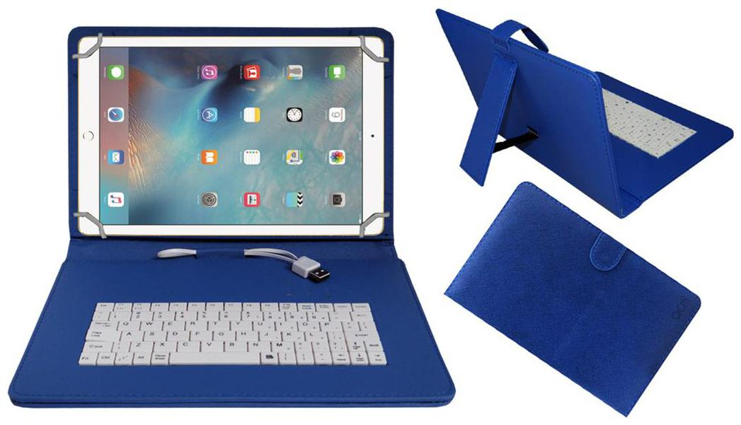 Acm Usb Keyboard Case For Apple Ipad Pro 9.7 Cover With Free Micro Usb Otg   Blue by Accessories Masters