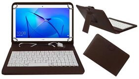 Acm Usb Keyboard Case for Huawei Honor Mediapad T3 10 Tablet Cover Stand With Free Micro Usb Otg - Brown