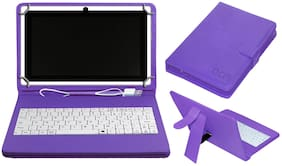 Acm Usb Keyboard Case for Honor Pad 5 8 Tablet Cover Stand With Free Micro Usb Otg - Purple