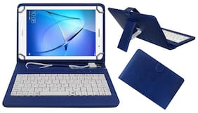 Acm Usb Keyboard Case for Honor Mediapad T3 8 Tablet Cover Stand With Free Micro Usb Otg - Blue