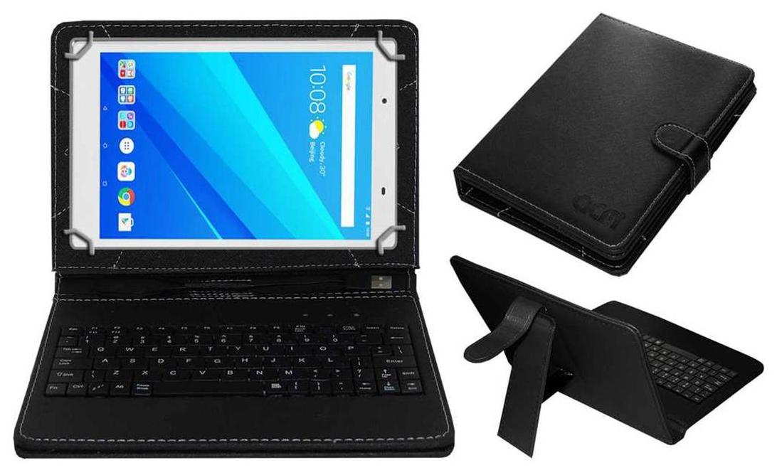 Acm Usb Keyboard Case for Lenovo Tab 4 8 Plus Tablet Cover Stand With Free Micro Usb Otg   Black