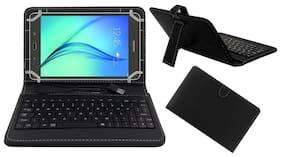Acm Usb Keyboard Case For Samsung Galaxy Tab A 20.32 cm (8 inch) Cover With Free Micro Usb Otg - Black